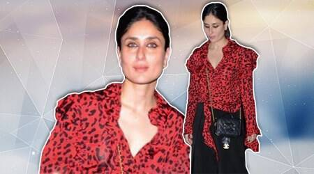 Kareena Kapoor Khan's red blouse with animal prints is quite a disappointment