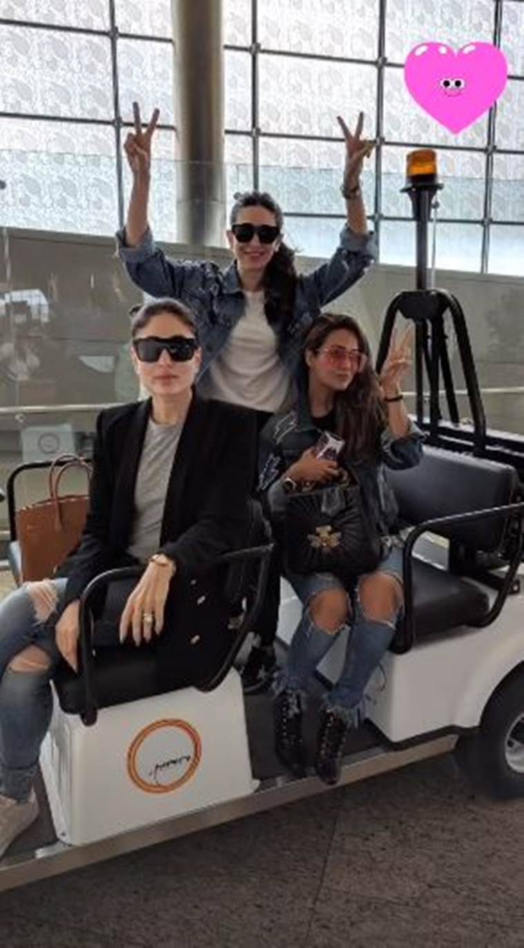 kareena, karisma, Amrita photos