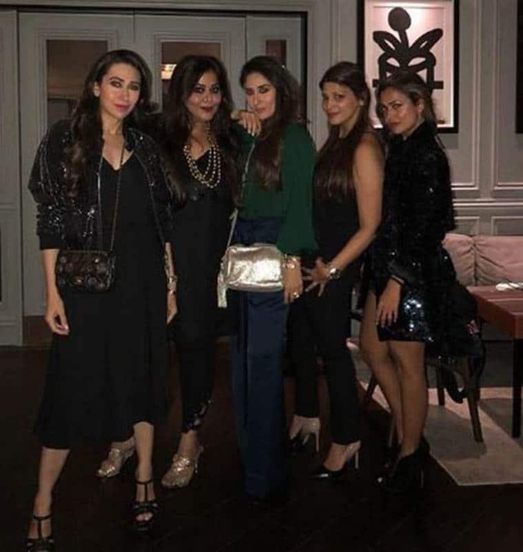 Karisma Kapoor, Mallika Bhat, Kareena, Poonam Damania, Amrita Arora.