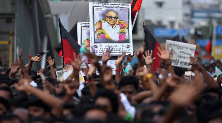DMK chief Karunanidhi passed away at the age of 94