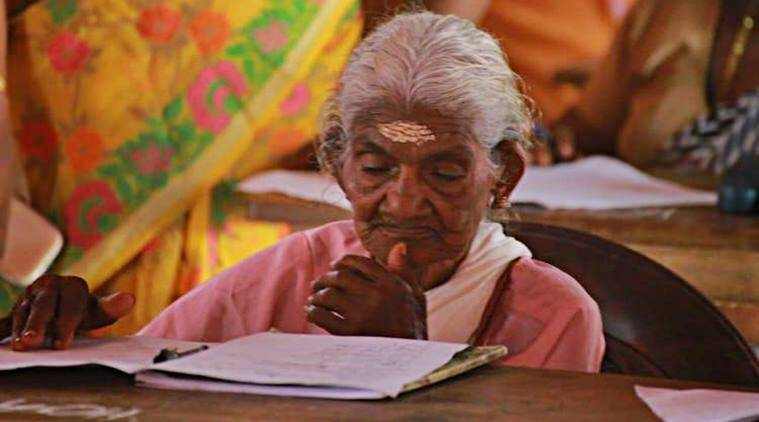 kerala, kerala literacy mission, oldest kerala student, 96 year old woman kerala exam, anand mahindra, india news, good news, inspiring news, indian express