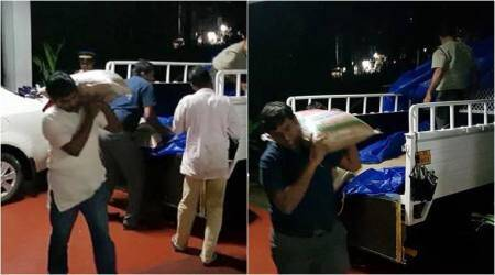 Kerala floods: Netizens laud IAS officers carrying rice sacks at relief camp; photos go viral