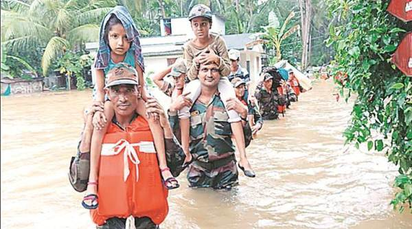 A rescue operation by the Army to help those affected by the floods. (Express photo)