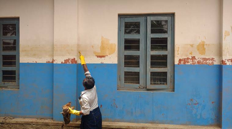 When a government school in Kerala reopened after the floods