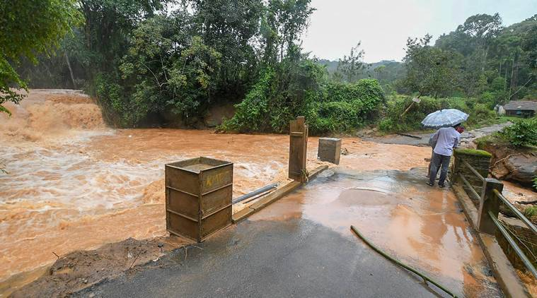 Eight killed, over 4,000 displaces after heavy rains in Karnataka's Kodagu district