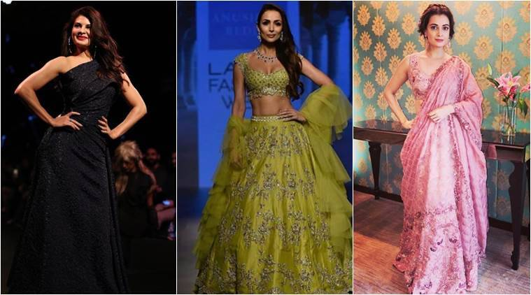 lakme Fashion Week, Lakme Fashion Week 2018, Lakme Fashion Week Day Four Photos, Malaika Arora, Dia Mirza, Jazqueline Fernandez, Indian Express, Indian Express News