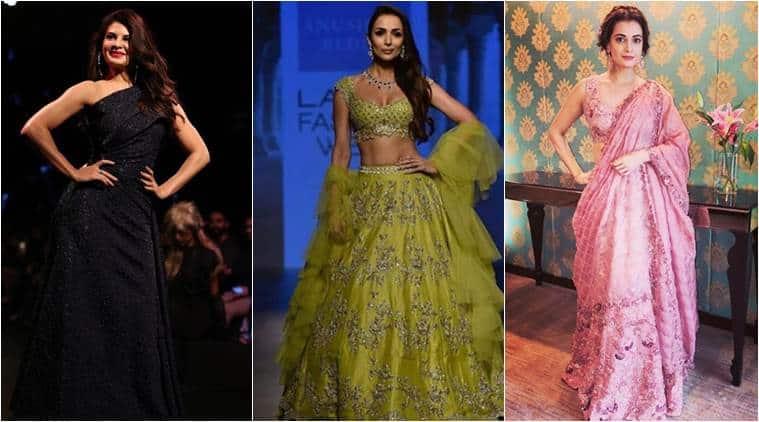 lakme fashion week, lakme fashion week 2018, lakme fashion week day four photos, malaika arora, dia mirza, jazqueline fernandez, indian express, indian express news