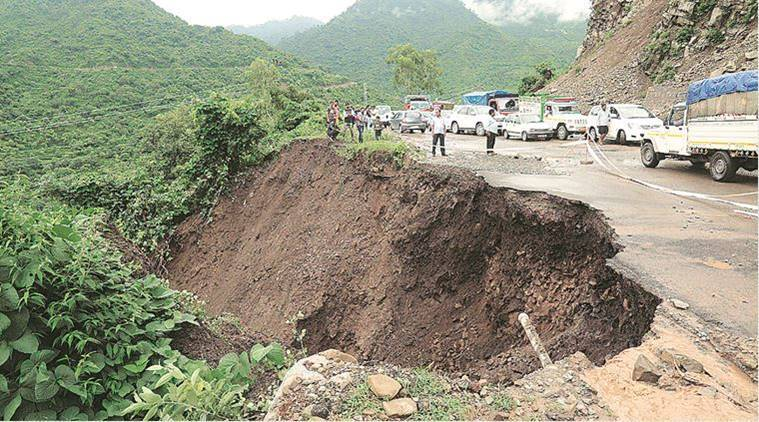 Landslides disrupt rail and road traffic between Chandigarh and Shimla