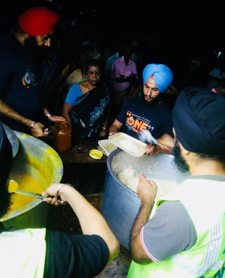 In flood-hit Kerala, Sikh volunteers set up langar to feed 3,000 people