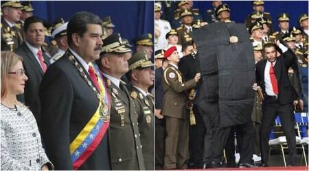 WATCH: The exact moment when Venezuelan President Nicolas Maduro was attacked bydrones