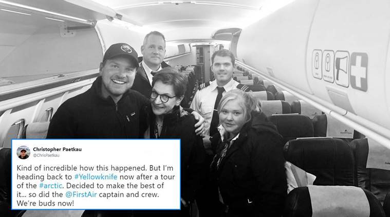 Christopher Paetkau, Filmmaker Christopher Paetkau, man travels in wrong flight, man takes wrong flight, man gets in a wrong place, viral stories, funny stories, bizarre news, indian express, indian express news
