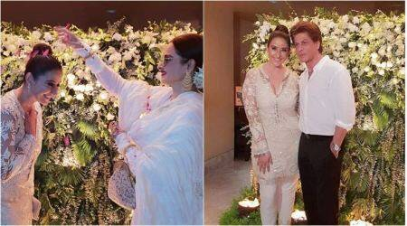 Manisha Koirala celebrates birthday with Rekha, Shah Rukh Khan, Maanayata Dutt and others