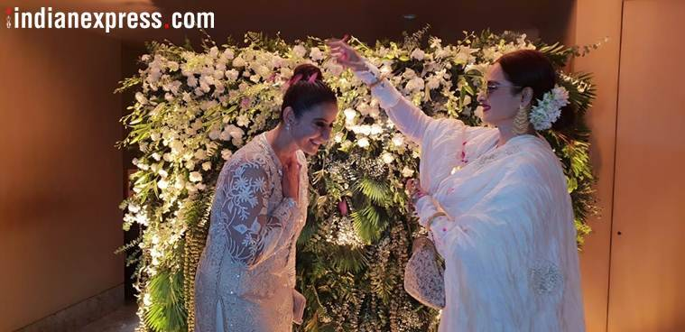 rekha at manisha koirala birthday party