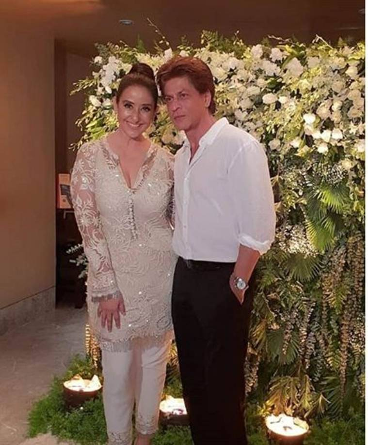 shah rukh khan at manisha koirala birthday party
