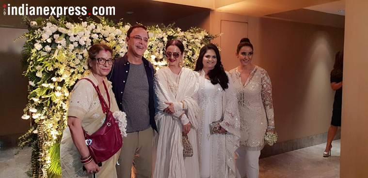 vidhu vinod chopra at manisha koirala birthday party