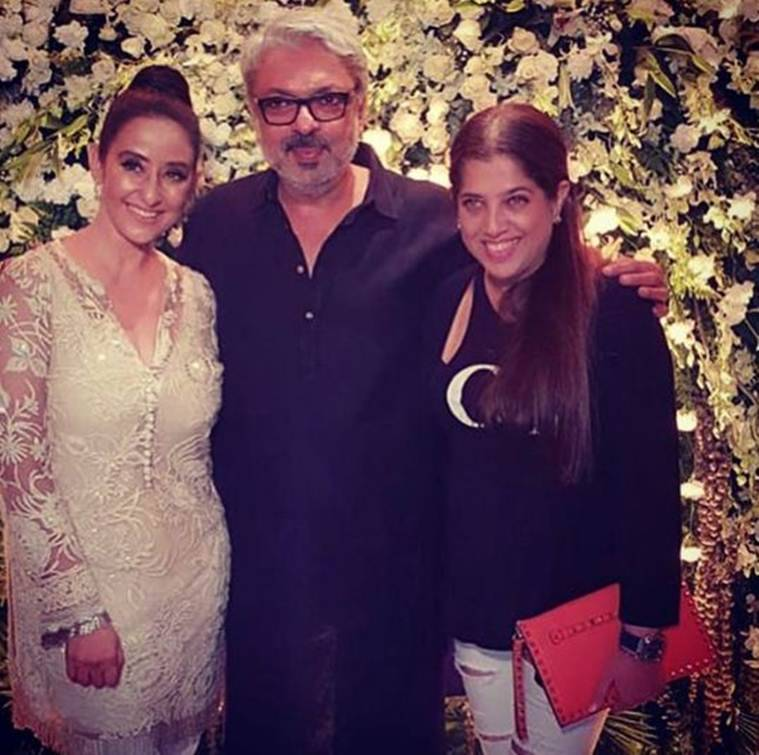 sanjay leela bhansali at manisha koirala birthday party