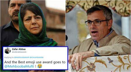 Mehbooba Mufti-Omar Abdullah's Twitter chat using emojis has left Twitterati impressed