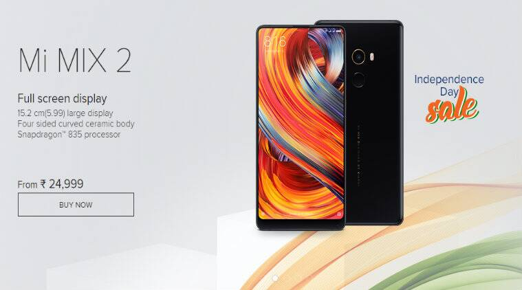 Xiaomi Independence day sale, Mi Store Independence day sale, Xiaomi independence day sale 2018, Xiaomi, Mi Mix 2 discounts, Mi Max 2 deals, Mi Band 2 offers, Mi Store deals, Mi Band 2 price in India, Xiaomi sale, Mi A2 price in India