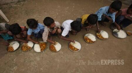 Around 700 children from classes V and VIII were served midday meal in the morning session of the school. (Representational)