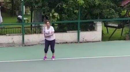 WATCH: Pregnant Sania Mirza can't keep away from the tennis court