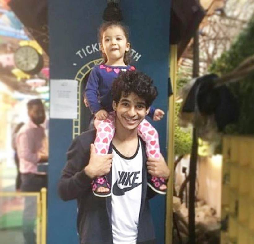 ishaan khatter with misha