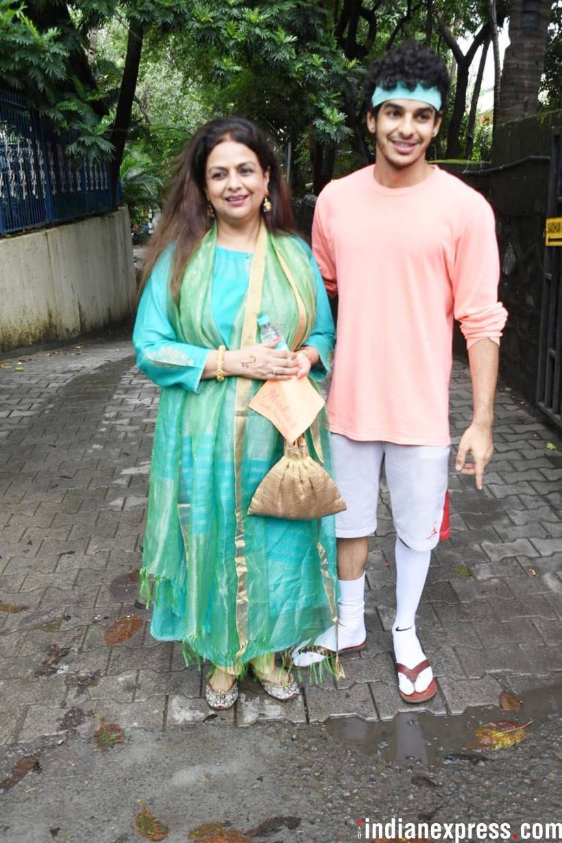 ishaan khatter with mom neelima azim
