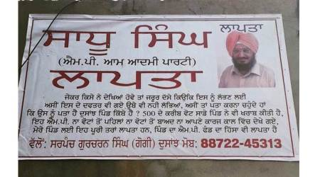 At Moga village, posters come up against 'missing' AAP MP