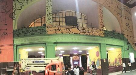 Life on the local: Argentine artist returns to Mumbai Central to give final touches to mural