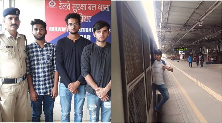 kiki challenge, mumbai local, kiki challenge mumbai train, kiki challenge arrest, men arrested kiki challenge, kiki challenge cleaning punishment, rpf, indian express, india news