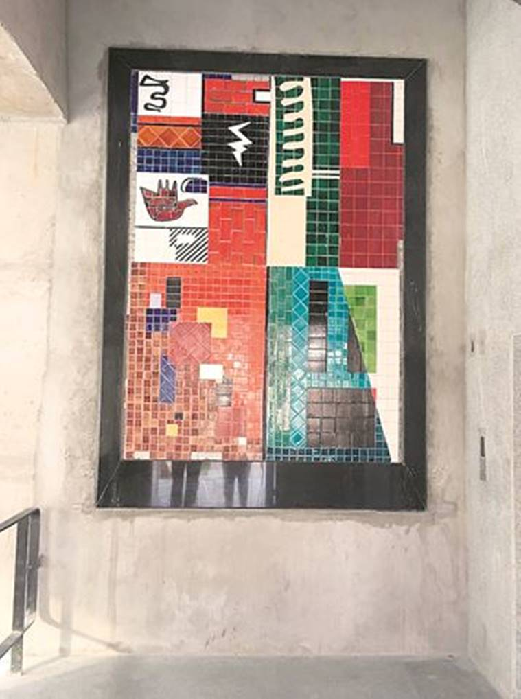 Chandigarh: Depicting Corbusier's work, 8 murals come up at multilevel parking