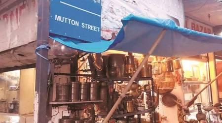 Mutton Street: Named after mutton market in British era, now associated with antiques, 'stolen' goods