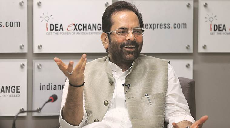 Minority Affairs Minister Mukhtar Abbas Naqvi said that Haj Committee of India has received more than 2,23,000 applications for Haj 2019 till now. (Express file photo)