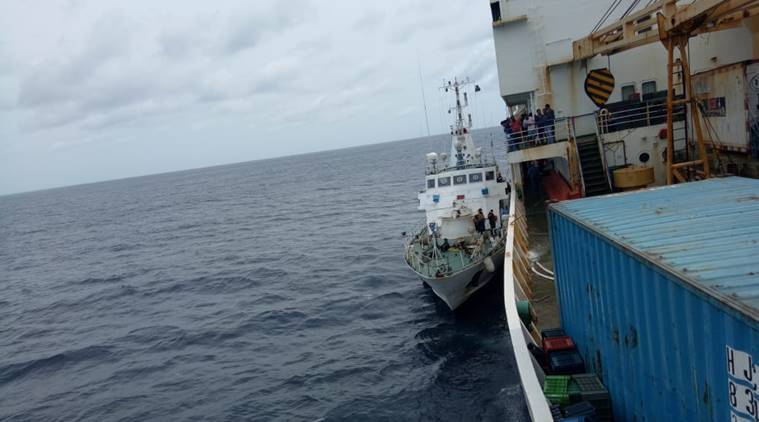 At leaast 343 personnel from flooded passenger ship rescued