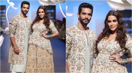 Lakme Fashion Week 2018: Neha Dhupia flaunts her baby bump as she walks for designer Payal Singhal
