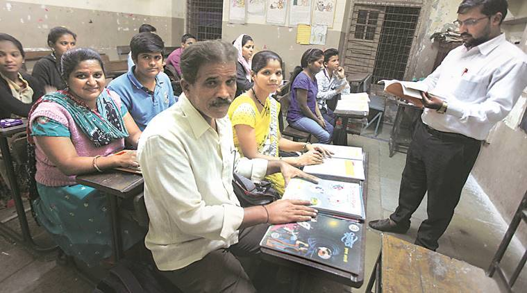 In the same classroom, on the same bench, parents and children aspire for a better future