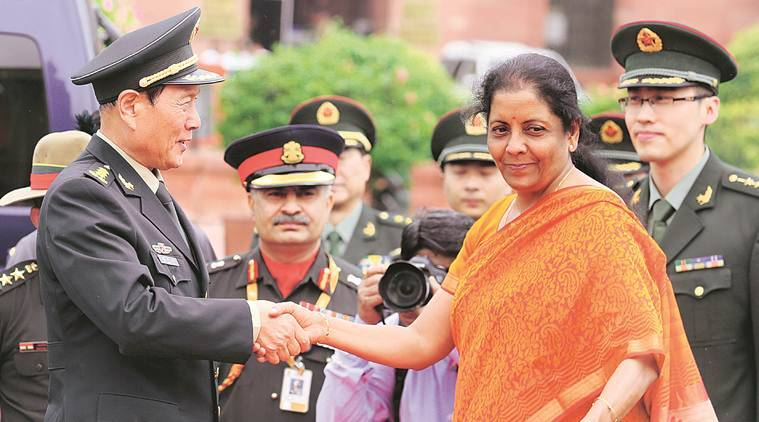 India china meet, Doklam, Doklam standoff, India China relations, india china disputed border, Wei Fenghe, Minister Nirmala Sitharaman, Indian express