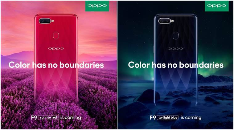 Oppo, Oppo F9, Oppo F9 official posters, Oppo F9 leaks, Oppo F9 Pro leaks, Oppo F9 colour variants, Oppo F9 specifications, Oppo F9 Pro specificatoins, Oppo F9 features, Oppo F9 Pro design, Oppo F9 latest