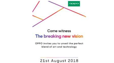 Oppo F9 Pro India launch on August 21, company sends invites