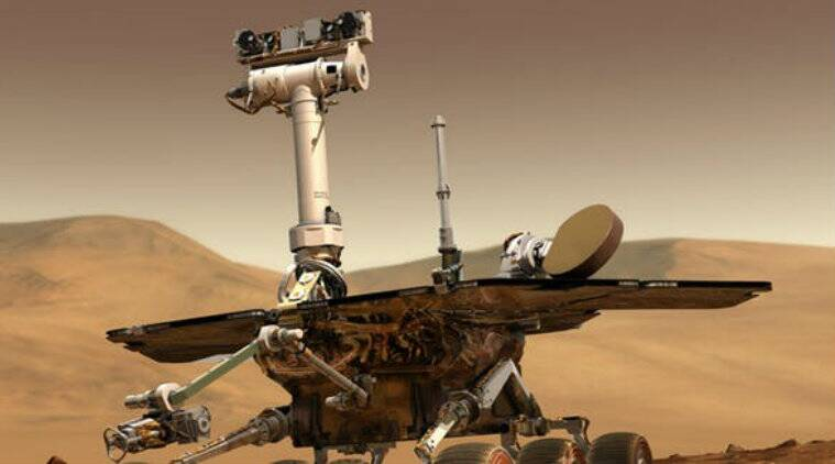 NASA, NASA Opportunity rover, Mars dust storm, NASA Mars probes, Mars Opportunity probe, solar panels, NASA Deep Space Network, dust storm speeds, Mars Reconnaissance orbiter