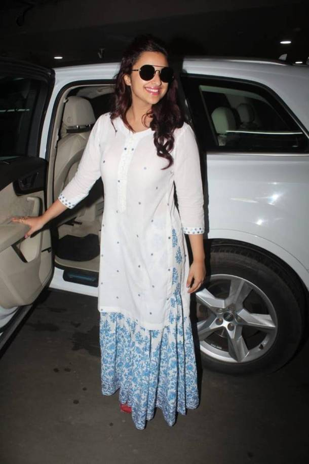 Parineeti Chopra at priyanka chopra and nick jonas engagment