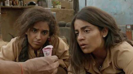 sanya malhotra and radhika madan in Pataakha trailer