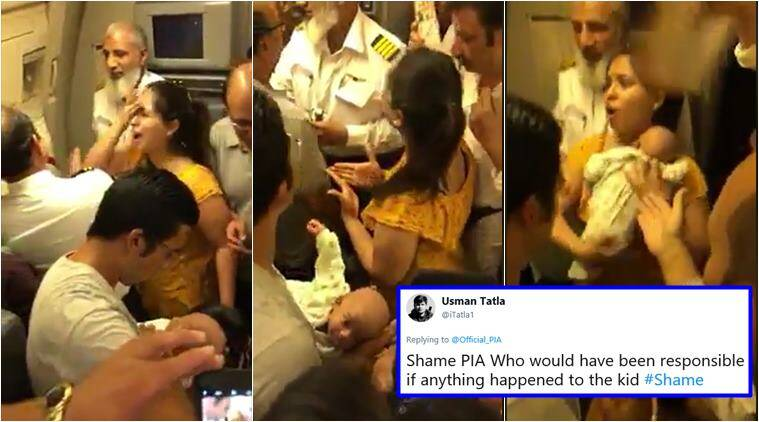pakistan. pakistan international airline, pia flight delay, pia flight ac off video, pia flight delay video mother crying, pia flight suffocation video, indian express, viral videos,