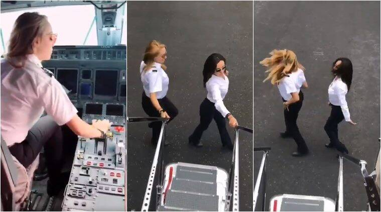 kiki challenge, pilot kiki challenge, kiki challenge moving plane, pilot jump out plane dance, viral videos, best kiki challenge videos, viral news, viral videos, indian express