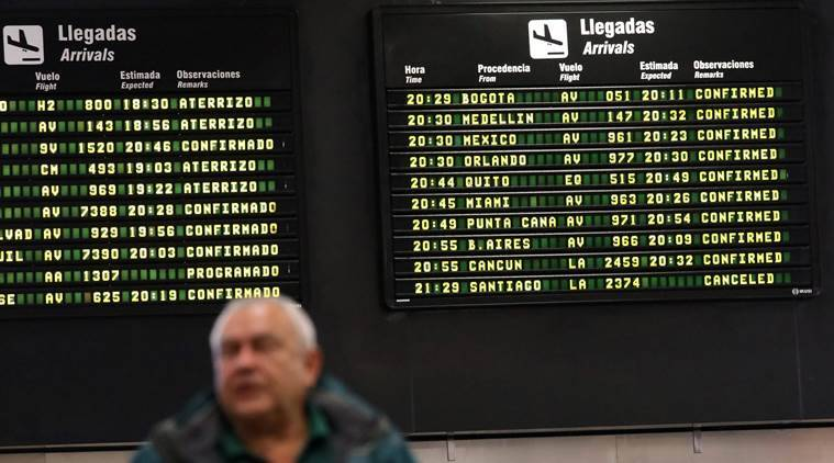 Nine planes grounded by bomb threats in South America
