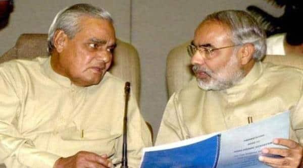 Image result for images of atal bihari vajpayee with narendra modi