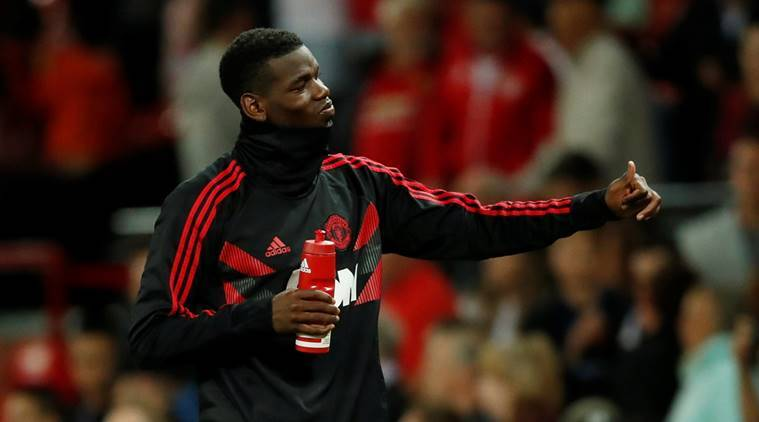 Manchester United's Paul Pogba after the match against Leicester City at Old Trafford