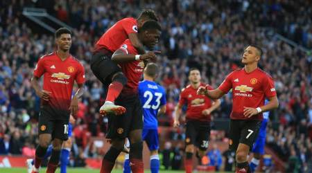 Paul Pogba scores as Manchester United beat Leicester City 2-1 in Premier League opener