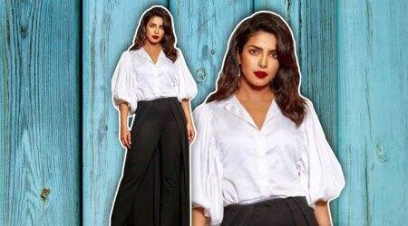 Priyanka Chopra's monochrome outfit is an unusual take on formal wear