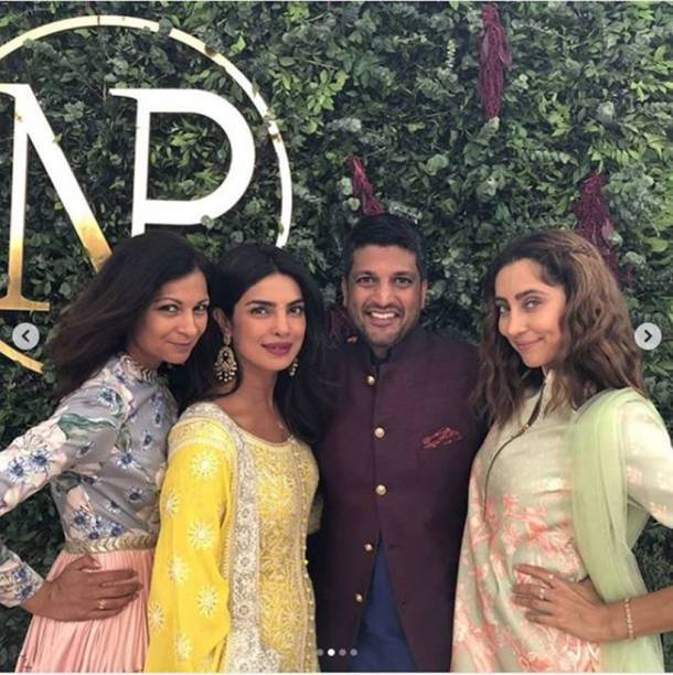 priyanka chopra with friends at roka ceremony