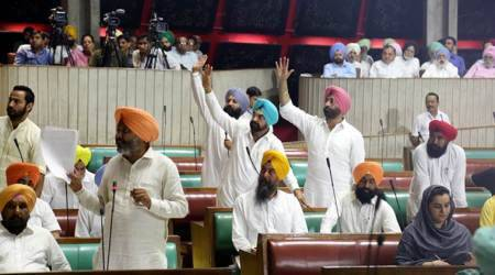 Punjab Assembly session: AAP demands Dera chief be booked, a special court to try sacrilegecases